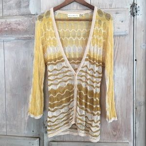 Anthropologie Charlie and Robin Cardigan Sweater L